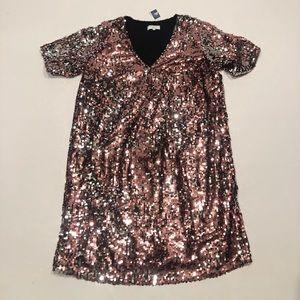 J. Crew Dresses - Universal standard for J. crew sequin pink dress M